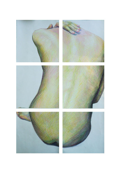 Biserka Petrovic, Careless Line 1, coloured pencils drawing, 50-35 cm, 2012