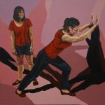 Illusions 4, 100x100cm, acrylic on canvas, 2018