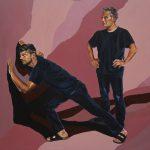 Illusions 5, 100x100cm, acrylic on canvas, 2018